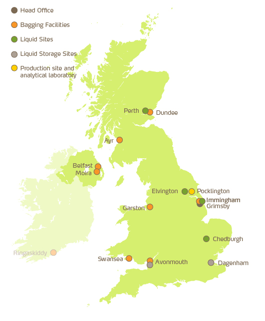 Where Yara operate in the UK